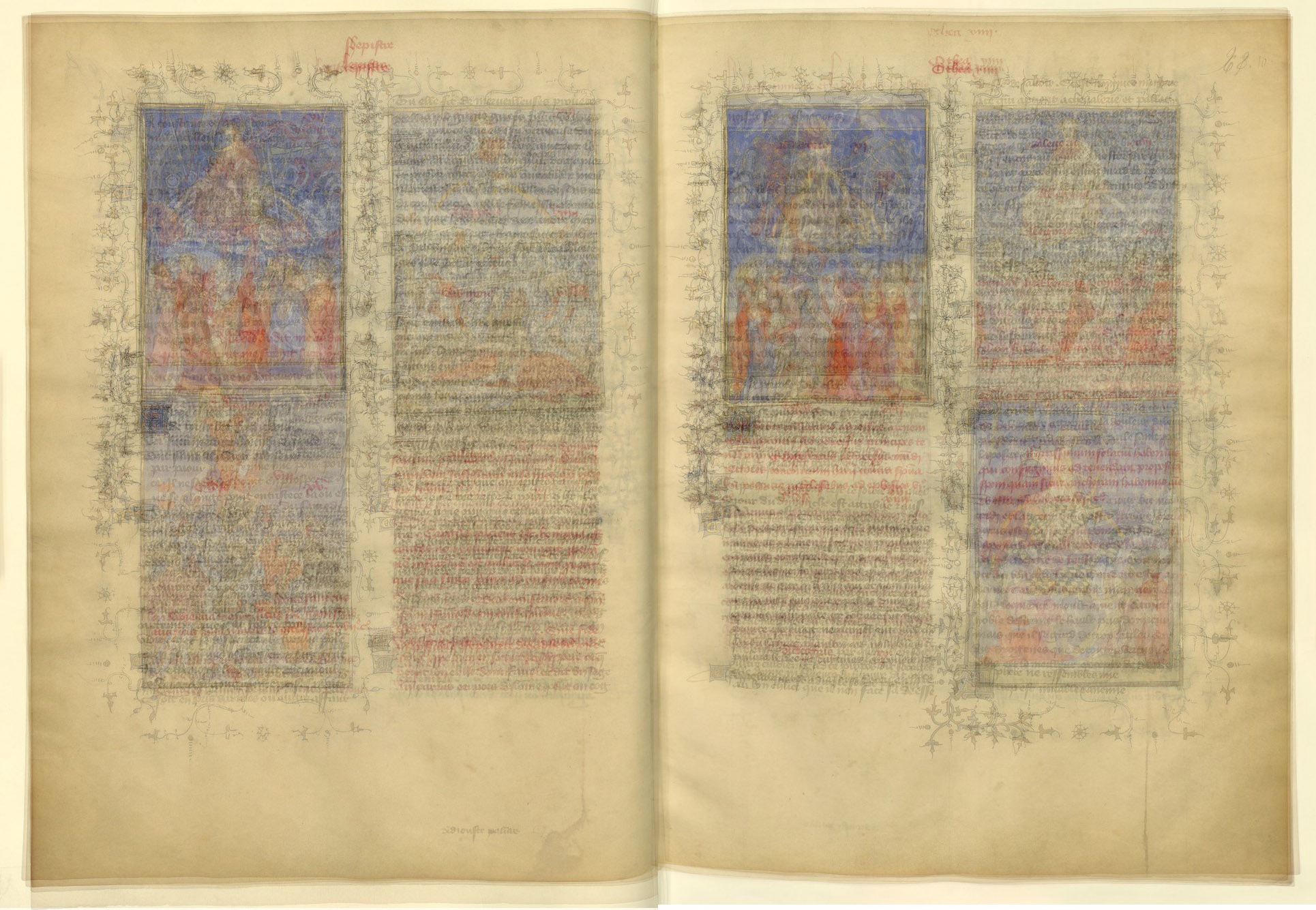 BNF Fr 606 sample (5 folios)