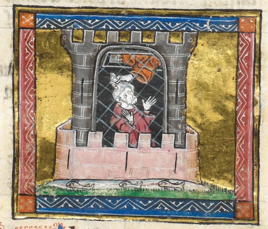 British Library, Royal MS 14 E III, fol. 42r, Lancelot-Grail Prose Cycle