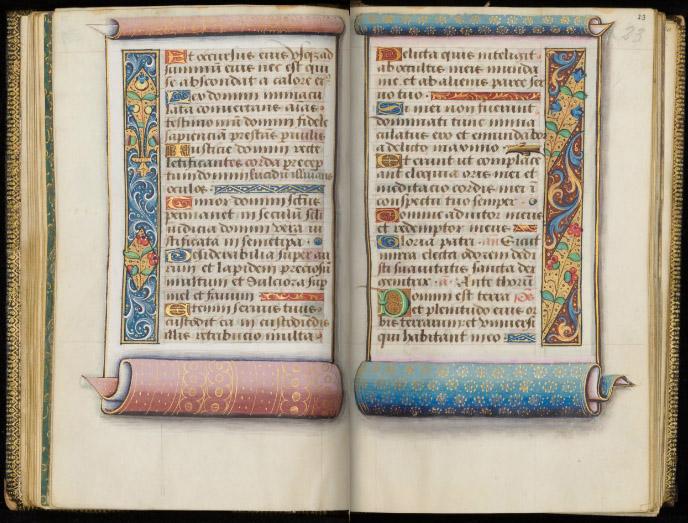Université de Liège, Ms. W.16, fols. 22v-23r.