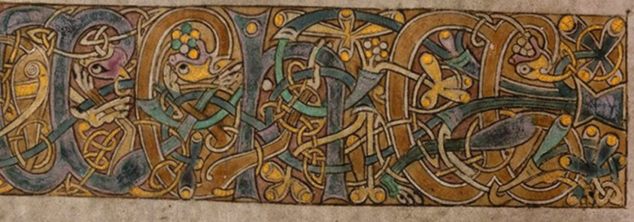 The Book of Kells, Trinity College Dublin, Ms. 58, fol. 19v